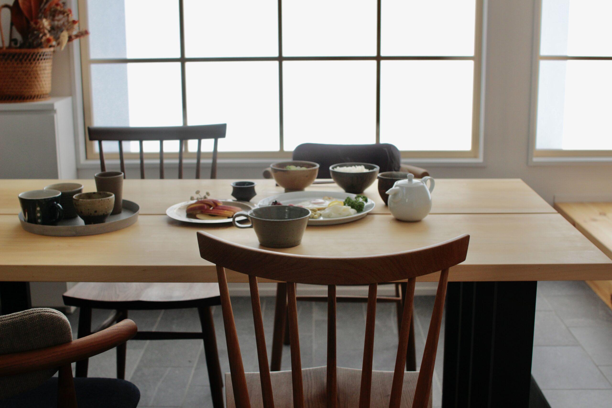 ダイニングテーブル&椅子の傷